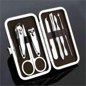 Nagelpflege-Tools Maniküre-Sets Nagelknipser Nagelscheren Pinzetten Maniküre Pediküre-Set Reise-Pflegeset Mini Maniküre 7er-Set