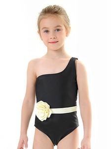 SAGACE filles Maillots de bain Filles parent-enfant solide Couleur monopièce Triangle Maillot haute fleur élastique enfants maillot de bain