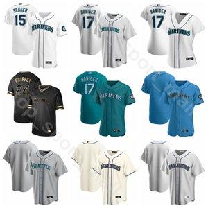 2020 Baseball Männer Frauen Jugend 9 Dee Gordon Jersey 17 Mitch Haniger 0 Mallex Smith 20 Daniel Vogelbach 15 Kyle Seager Team White