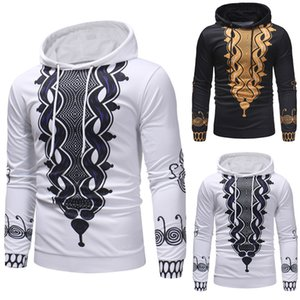 2020 New African Dresses for Men Print Rich Bazin Long Sleeve Hoodies Mens Africa Fashion Tops M-3XL Dashiki Clothes T200628