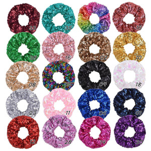 S1038 Hot Fashoin Accessory Hair Ring 20 Colors Sequins Hairband Rope Hair Rings
