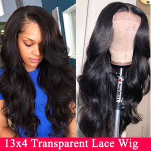 Lace Front Human Hair Wigs 13X4 Remy Invisible Transparent HD Brazilian Body Wave Lace Front Wig For Black Women
