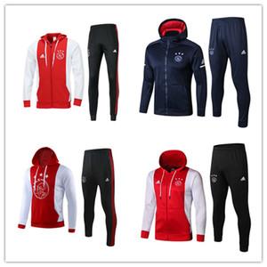 высокое качество 2019 Ajax футбольная куртка спортивный костюм толстовка ветровка 19/20 KLAASSEN de foot NOURI DOLBERG YOUNE SWindbreaker тренировочный костюм комплект