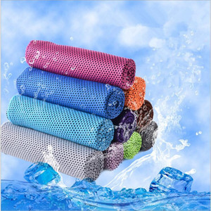 Sihirli Buz Havlu 90 * 30 CM Fonksiyonlu Soğutma Yaz Soğuk Spor Havlular Eşarp Buz kemer Yetişkin Banyosu CFYZ136Q Malzemeleri Soğuk