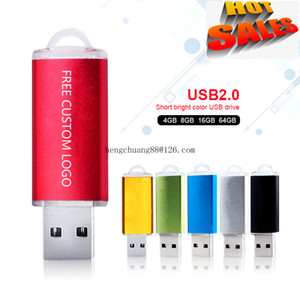 L'abitudine libera logo USB Flash Drive 8G 16G coperchio della penna pen drive unità Memory Stick Usb Key High Speed ​​Multi-color unità flash da 16 GB