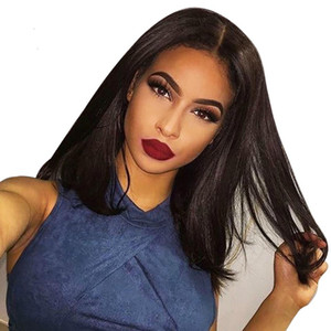 13x6 lace frontal wig natural color remy Brazilian human hair wig silky straight pre-plucked hair line
