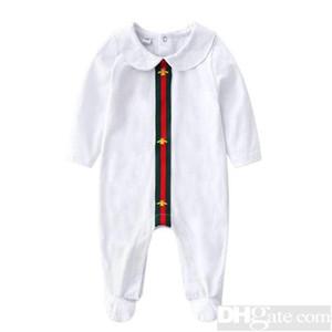 2019 Rodada Neck Uniforme de Algodão Roupas Novo Romper Do Bebê Recém-nascido Da Menina do Menino Roupas de Manga Longa Infantil Produto Primavera Outono-18
