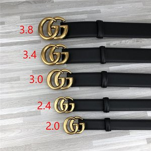 High quality Belt Female Gold r Black Genuine leather Waist Belts for Women Jeans Pants in box