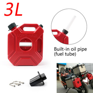 Areyourshop Car 3L 5L Plastic Jerry Cans Gas Fuel Tank w  Lock SUV ATV Motorcycle Scooter Car Auto Accessories Parts
