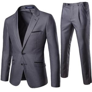 XF011 Costume Nouveau Quatre Saisons Hommes 2 Pièces Professionnel Vêtements Vêtements Set Robe De Mariage De Marié Hommes Blazers