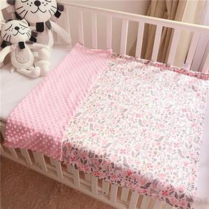 Couverture polaire pour bébé Couverture en flanelle douce Couverture pour nouveau-né bébé tout-petit minky Stripped Swaddle Wrap Literie Couvre Bulles