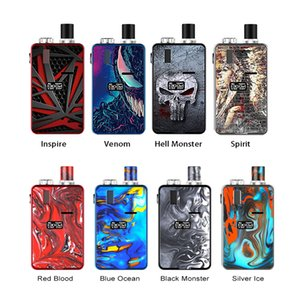 Hugo Vapor Kylin 30w Vape Kit Built-in 1000mAh batteria ricaricabile con 3 ml Pod MTL Mesh Coil 100% originale