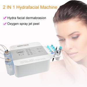 2 em 1 Hydra Facial Oxygen Hydrafacial dermoabrasão Jet Peel máquina de limpeza do Aqua Água Peeling Skin Deep Cleansing Hidro Microdermabraszzh