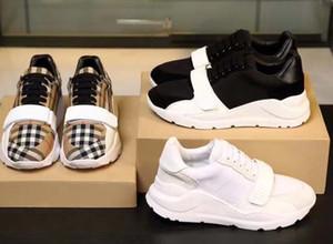 piattaforma scarpe donne degli uomini di cuoio reali di alta qualità della scarpa da tennis di lusso Chaussures triple mens formatori Espadrillas aria con la scatola 01