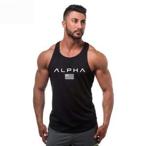 homens top tanque Musculation colete homens de roupas e fitness undershirt tanque peça maciça camisa longarina algodão