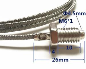 Tempreture Universal M6 K Tipo E Sensor de temperatura M6 Parafuso Tipo Thermocouple Shielding Wire Thermocouple Probe Tool accessors