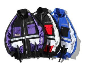Fermuar bombacı ceket kaban erkekler streetwear hip hop gevşek ceketler yizlo