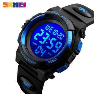 SKMEI enfants LED électronique numérique Montre chronographe Horloge Sport Montres 5bar étanche Enfants Montres-bracelets pour les garçons filles