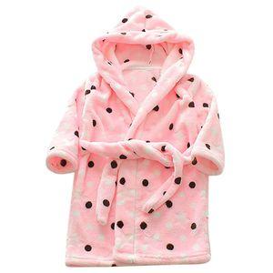 SAGACE Robes infant robe for children Sleepwear Robe child Baby Towel bathrobe Print Flannel Hoodie Pajamas Night Gown 19May28