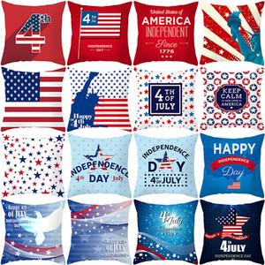 Американский День Независимости Наволочки США День Независимости Персиковая Кожа Наволочка Домашнего Офиса Диван Украшения