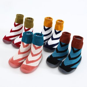 Children Ankle Sock Spring And Autumn Baby Fine Lines Mixed Colors xue bu wa Non-slip Glue End of Men And Women Baby Looped Pile