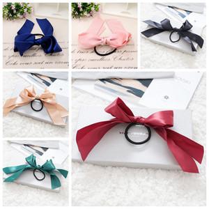 Mode Pferdeschwanz Schal elastischer Haar-Seil für Frauen-Haar-Bogen-Krawatten Scrunchies Haarbänder Blumen-Druck-Band-Haarbänder Partei-Bevorzugung RRA3087