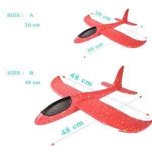 48cm Grande mousse EVA Aircraft Toy main Throw Planeur Avion Aircraft Flight bricolage jouet modèle Lancer Roundabout Avion Enfant Cadeaux