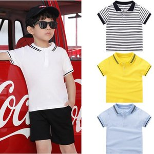 New Toddler Baby Boy Kids Summer T Shirts Short Sleeve Solid Gentleman Tops T-Shirt Children's Tee Clothes