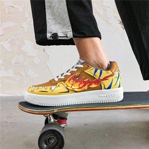 2020 yeni erkek yazlık nefes rahat ayakkabılar erkek beyaz ayakkabı vahşi shoes39-44 eğilim