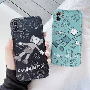 Cartoon KAWS Holiday Soft Matte Back Cover Full Protective Frosted Phone Case Phone Shell for iPhone 11 Pro Max XS 8 Plus SE2