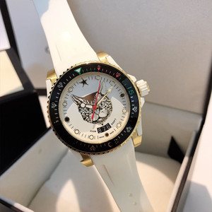 Alta qualidade Famoso Top relógios G-TIMELESS Mens Watch cobra e pulseira de borracha movimento cat-face ETA quartzo suíço luminosa Mergulho Relógios de pulso