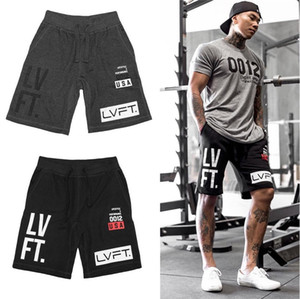Shorts Hommes d'été Salles de sport Fitness Sports Ensembles T-shirt de culturisme Pantalons Refroidir Casual Male Jogger en cours Sweatpants Workout Beach Wear