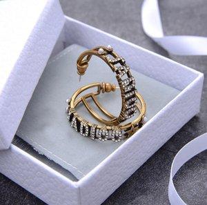 Lusso nappa lunga Nuovo top di marca del progettista della vite prigioniera orecchini lettere CC dell'orecchio Orecchino gioielli e accessori per il regalo di nozze le donne