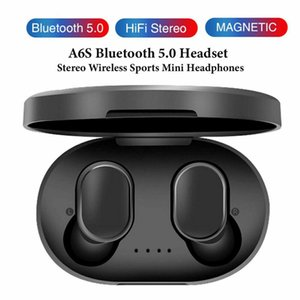 Auricolare TWS A6S A6X A6L E6S M1 cuffie Bluetooth 5.0 Vero Wireless auricolari Vita impermeabile cuffia con il Mic per Smart Phones InPods PK