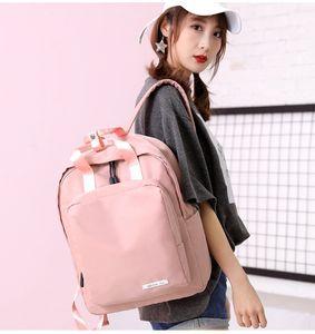 2019 yeni Koreli kadın büyük kapasiteli seyahat çantası moda kampüs ortaokul öğrencisi çantası rahat sırt çantası toptan