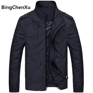 Bingchenxu sólido Jacket Cor Homens Marca Jackets Fashion Trend Slim Fit Casual Mens jaquetas e casacos M-4XL 2019 Veste Homme 487 MX191105