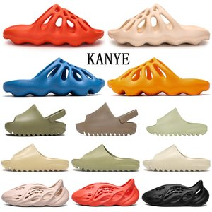 2020 platform kanye west slippers womens men shoes kids boys flip flops sandals Bone Desert Sand Casual Slides runner slipper