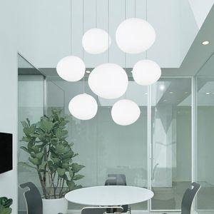이탈리아 Foscarini 그레그 서스펜션 램프 유리 펜던트 조명 현대지도 불규칙한 매달려 램프 룸 부엌 전등 식사