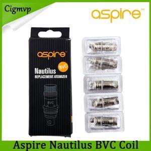 Aspire Nautilus Bvc Bobin 0.7 ohm 1.6 ohm 1.8 Ohm Aspire Nautilus Mini Clearomizer için yedek alt dikey Bvc Bobin E-sigara