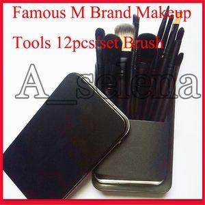 Berühmter M Marke Makeup Tools 12 PC-Verfassungs-Bürsten-Satz-Kit Travel Beauty Professionelle Foundation Lidschatten Kosmetik Make-up-Pinsel