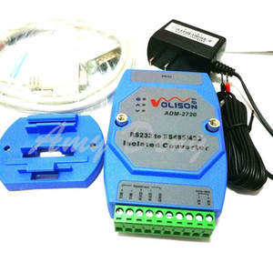 Freeshipping Isolated active RS232 to RS485 RS422 converter 232 to 485 industrial lightning protection rail