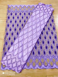 african swiss voile lace fabric 2.5yards +bazin riche embroidered lace 2.5yards matched for nigerian wedding dressxn92#