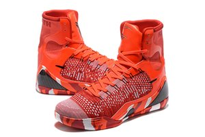 Mamba 9 IX Elite de Noël élevé des hommes Weaving BHM pas cher Meilleur homme Chaussettes Chaussures de basket-ball Chaussures Livraison gratuite avec la boîte Size7-12