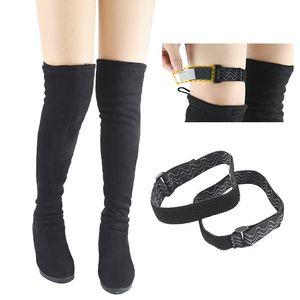 2PCS NEW Boots Belt Strap Women Fixing Shoes Anti Fall Accessories Elastic Adjustable Inside Non Slip Adhesive Tape Elastic Cord
