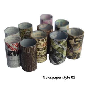 8/10 / 16pcs Nail Foil Set transfert Decal pour ongles autocollant 4 * 100cm Fleur journal Nouvelles Mixte Nail Art Décoration Adhesive Wraps Bonne