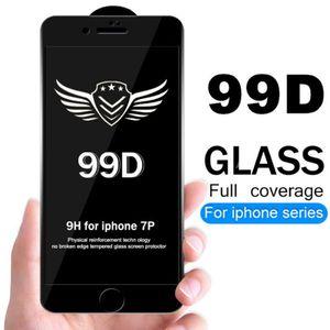 99d protetor de vidro temperado para iphone xres xs max 6 6 s 7 8 plus filme protetor de tela cheia de vidro sem pacote de varejo