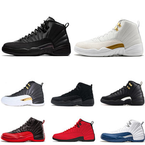 12 12 s WNTR Gym kırmızı Erkek Basketbol Ayakkabı erkekler için beyaz siyah Fransız mavi 2019 yeni atletik spor açık Sneakers trainer boyutu 8-13