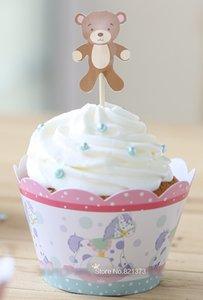carino bella baby shower favori per bambini decorazioni per feste economici involucri di cupcake di carta tazze toppers torta raccoglie per le forniture di compleanno