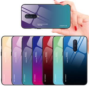 İnce İnce Renkli Gradient temperli cam Vaka İçin OnePlus 8 Bir Artı 8 Pro 7T Pro 7 Pro 6T 6 Smooth Dokunmatik Kapak