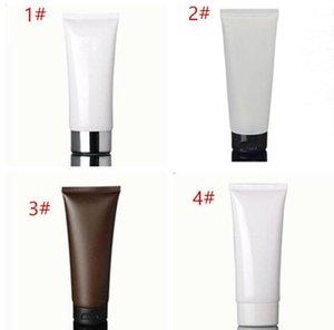 100ml white Amber soft tube / black pp cap / cream lool bottle / plastic PE hoses / cosmetic packaging empty bottles